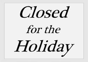 Holiday: Office Closed
