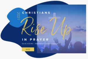Christians Rise Up In Prayer @ Waxahachie Lumpkins Stadium